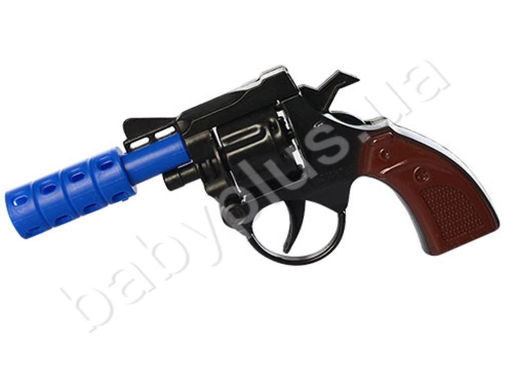 Пистолет 14-7,5-2см, 2  цвета, в кульке MMT-828- 6A-7A