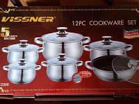 Набор посуды Vissner VS 12500 12 пр., фото 1