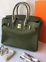 Женская сумка Гермес Биркин 35 см оливка (реплика) 955ffebb940d4