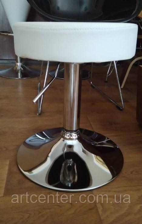 Стул барный, хокер, визажный стул  (ПИНА белый)