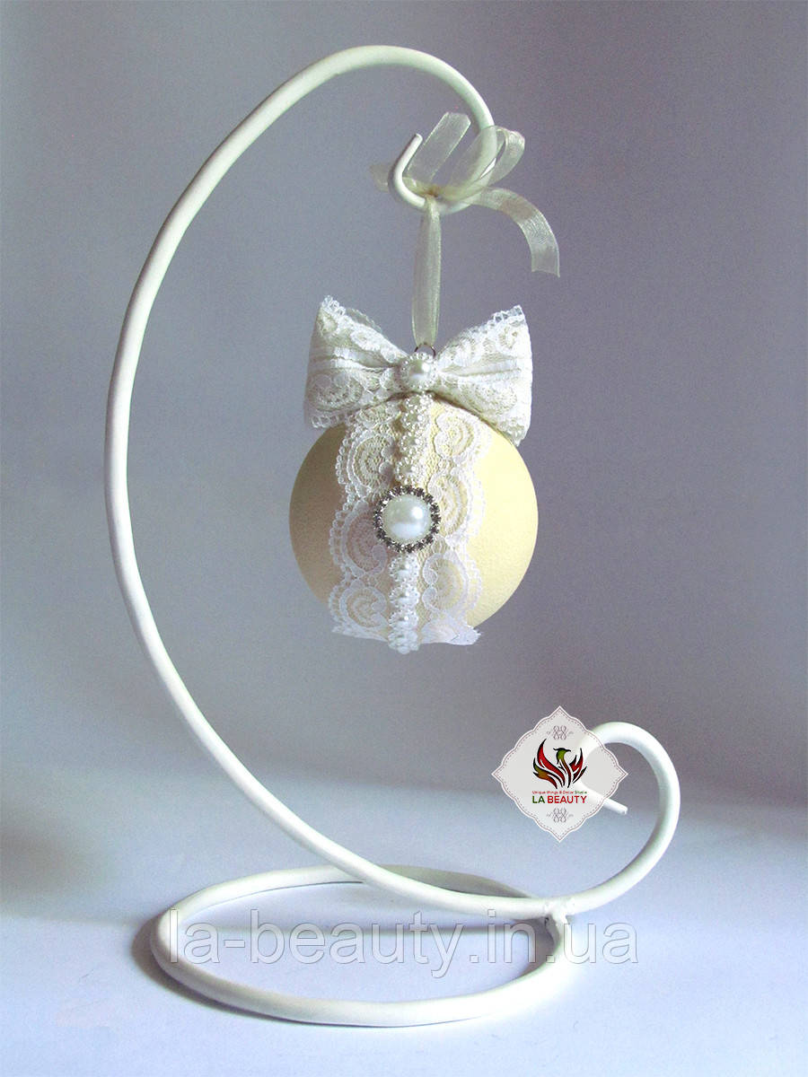 Декоративный Шар на подставке Luxury Ivory Small в стиле шебби-шик ручная работа VIP эксклюзив