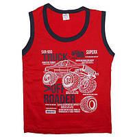 Майка для мальчика 4-8 лет (104-128) машина