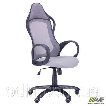 Кресло Nitro черный, сиденье Неаполь N-23/спинка Сетка серая 265887