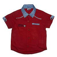 Рубашка с коротким рукавом на мальчика 1-4 года арт.4449