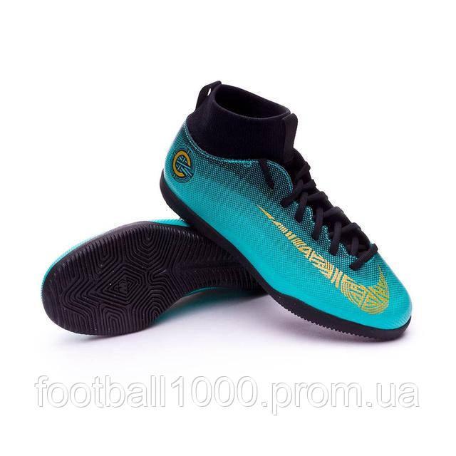 ba70ca55b91 ... Детские залки Nike MercurialX Superfly 6 Club CR7 IC Junior AJ3087-390