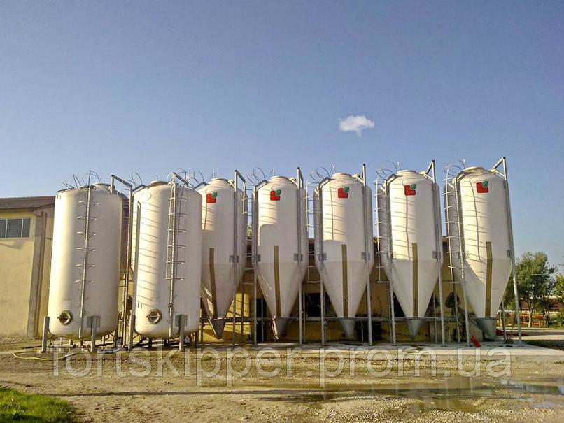 Силоси зберігання борошна для виробництва біоетанолу 100 м3