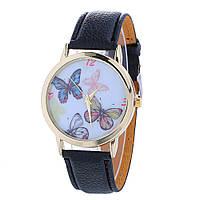 Наручные часы  Бабочки - черные