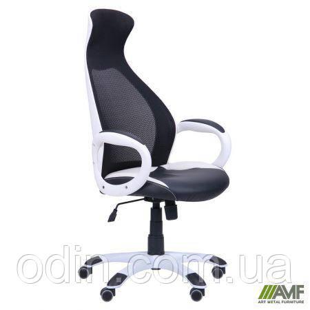 Кресло Cobra белый, сиденье Неаполь N-20, Неаполь N-50/спинка Сетка черная 261760
