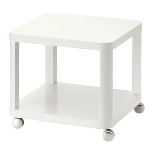 Журнальный стол IKEA TINGBY 50x50 см белый 202.959.30