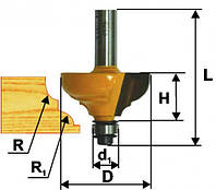 Фреза кромочная калевочная ф28.6х13, r4, хв.8мм (арт. 9252), фото 1