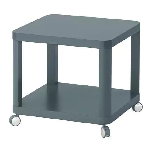 Журнальный стол IKEA TINGBY 50x50 см бирюзовый 103.494.48