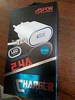 СЗУ Aspor - A802 PLUSmicro 2.4A с кабелем