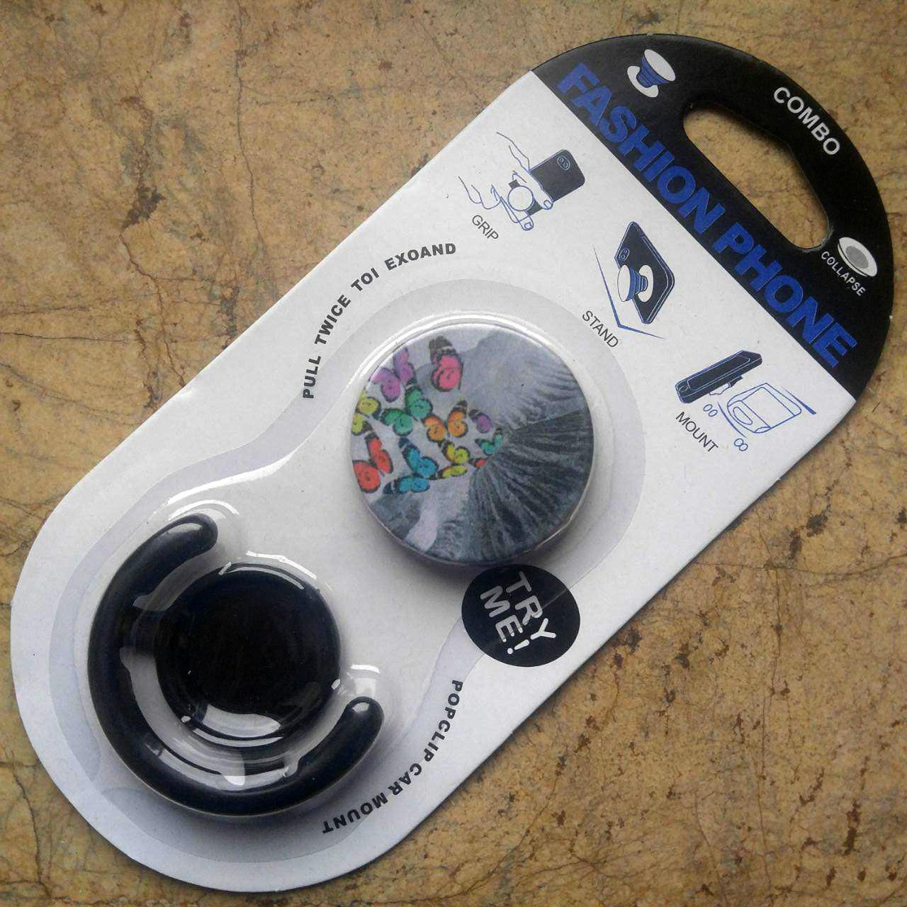 Попсокет держатель Fashion для телефона/планшета + держатель для авто Combo Popsocket 04