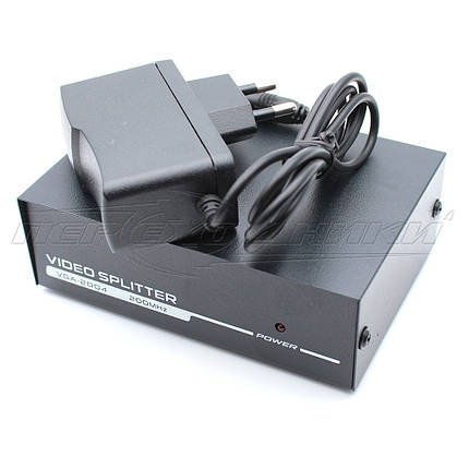 Активный VGA Splitter разветвитель 1x4, черный, фото 2