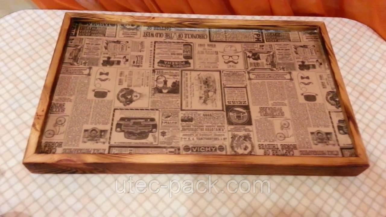 Підкладки для підносів з крафт паперу, лист А-4