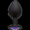 Анальная пробка средняя Silicon M Crystal 3,5 см, фото 4
