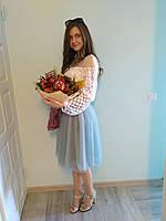 Блуза БЖ 3509, нарядна блуза, свадебный наряд, вышитая блузка, бохо стиль, эвросетка, купить блузку