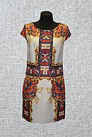 Летнее женское платье А-силуэта