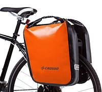 Велосумка Crosso DRY BIG 60L CLICK Оранжевая (Велобаул, Велорюкзак на багажник), фото 1