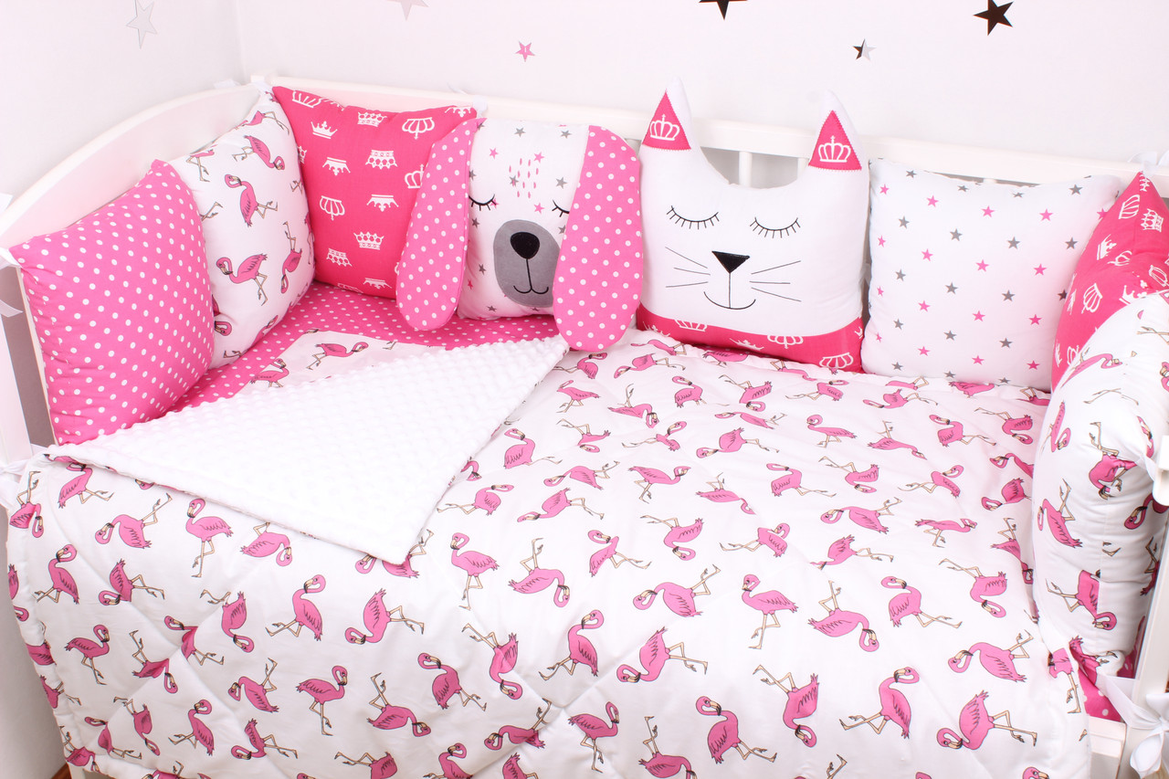 Комплект в дитяче ліжечко з тваринками