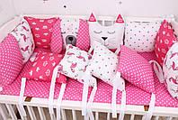 Комплект в детскую кроватку с зверюшками, фото 5