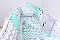 Комплект в детскую кроватку с зверюшками, фото 6