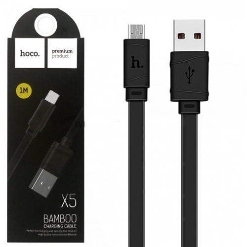 Кабель Hoco X5 Bamboo Lightning Black