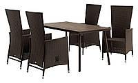 Садовая мебель из искусственного ротанга  (4 кресла и столик)