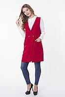 Молодежный пиджак без рукавов КРАСНЫЙ, фото 1