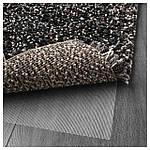 IKEA VINDUM Ковер с длинным ворсом, темно-серый  (003.449.79), фото 4