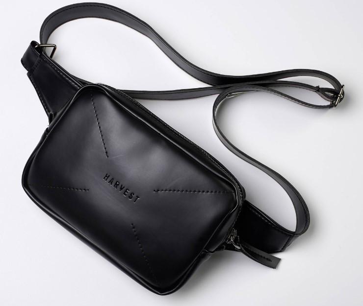 7c5d0a467550 Поясная сумка на пояс барсетка черная OPTION GLOSSY HARVEST (сумки, мужская  сумка, женская