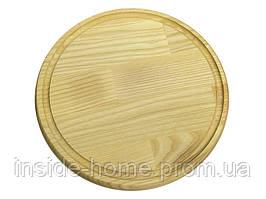 Доска круглая 210*16 мм со сточным желобом КЕДР
