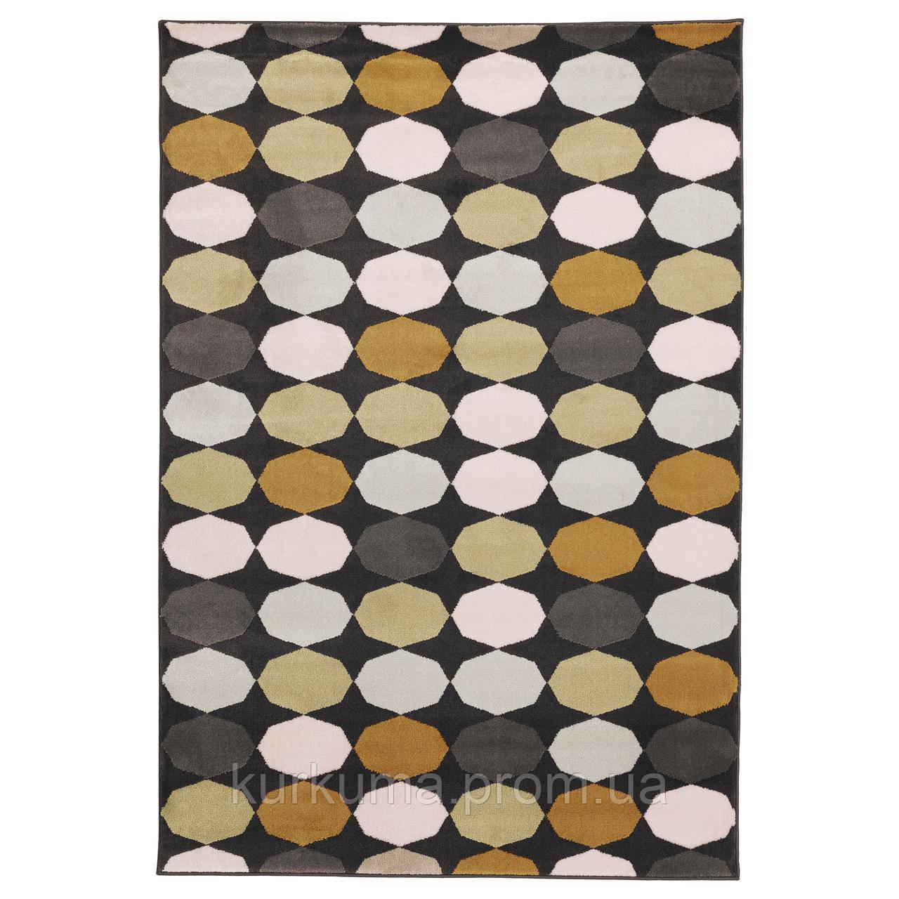 IKEA TORRILD Ковер с коротким ворсом, разноцветный  (303.908.61)
