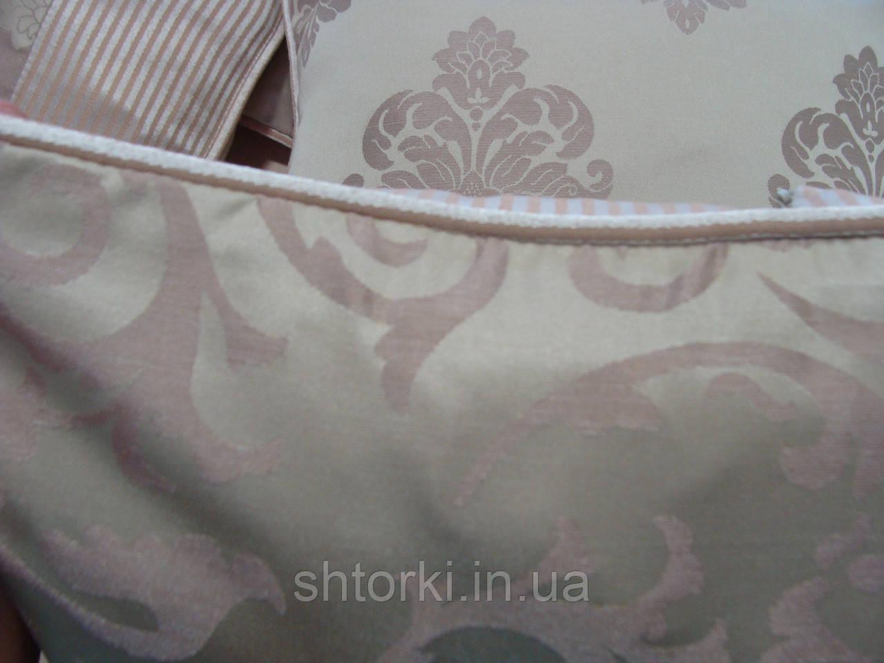 Комплект подушек Беж с розовинкой, 5шт