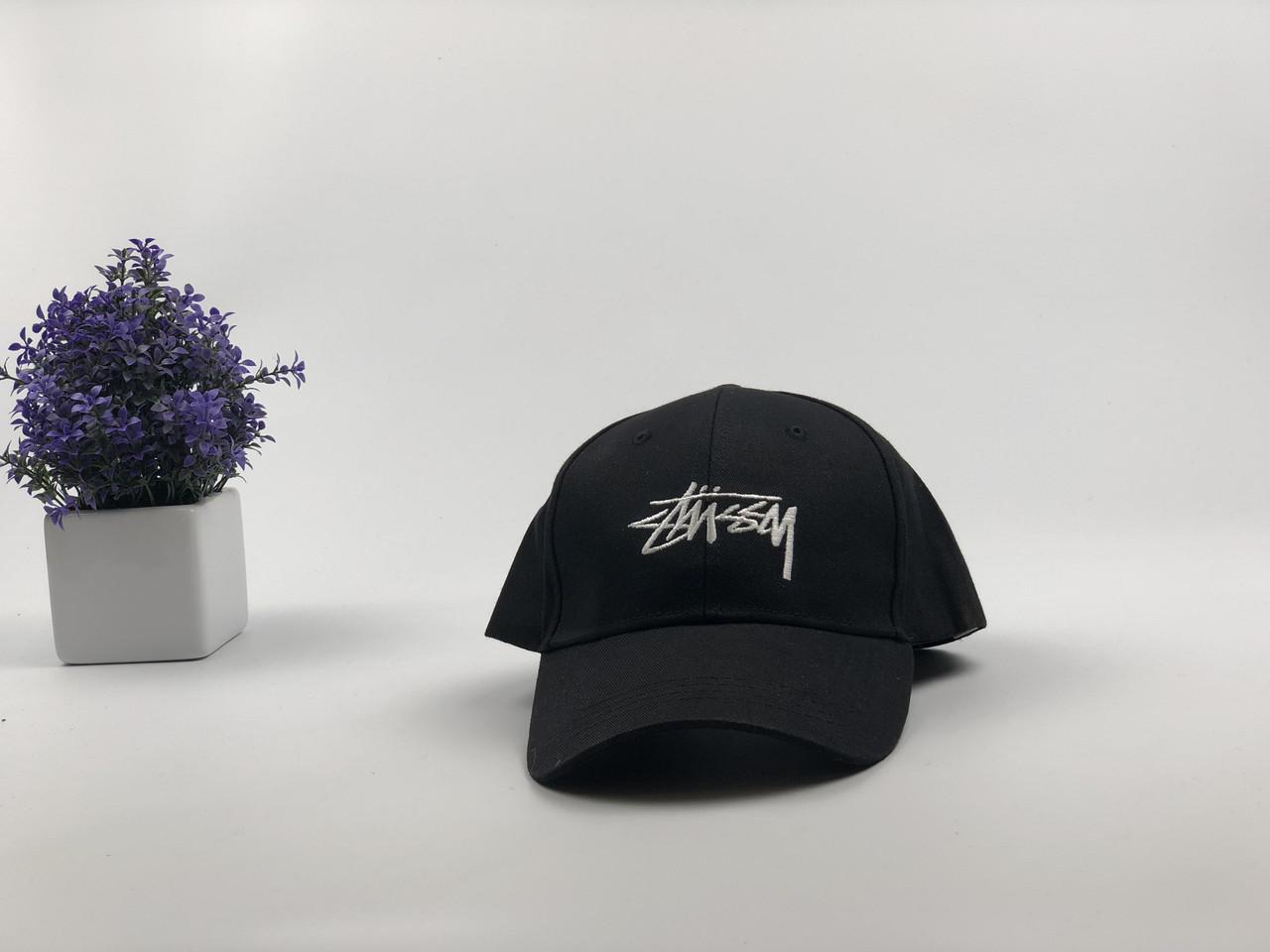 Кепка бейсболка Stussy (черная)