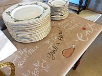 Бумажные скатерти из крафт бумаги, порезка листов на форматы