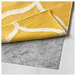 IKEA STOCKHOLM Ковер безворсовый, ручная работа, желтая решетка, желтый  (102.290.35), фото 3