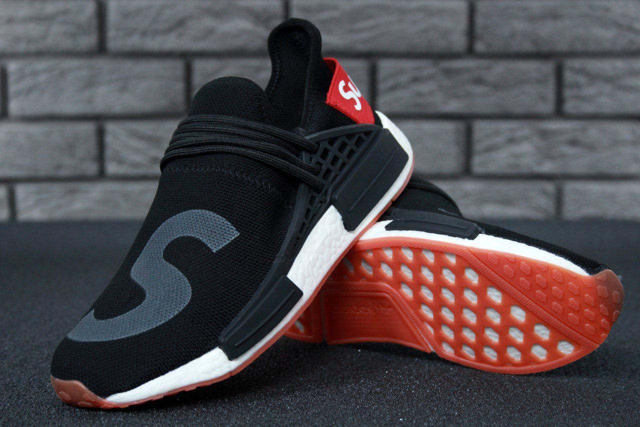 c09297ef9 Кроссовки мужские черные летние Adidas Supreme x Pharrell Williams Human  Race NMD - Доберман шоп -