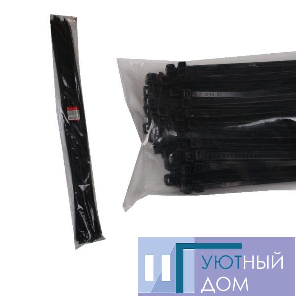 Стяжка кабельная чёрная 9×1220