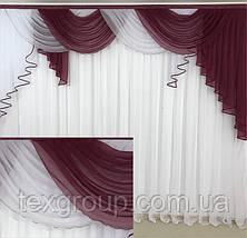 Ламбрекен шифоновый №352 3м зал спальня, фото 2