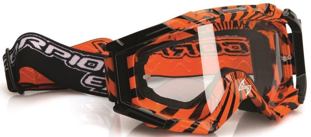 Очки Scorpion для кросса оранжевые