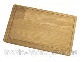 Доска деревянная 1000*300*20 мм кухонная с канавкой КЕДР