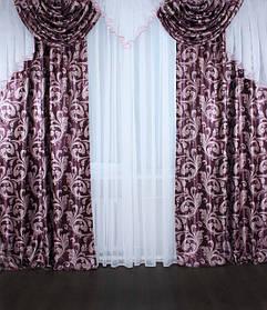 """Комплекты ламбрекен+шторы из ткани """"блэкаут"""""""