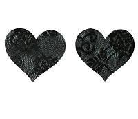 Кружевные наклейки на грудь в виде сердечек (стикини)