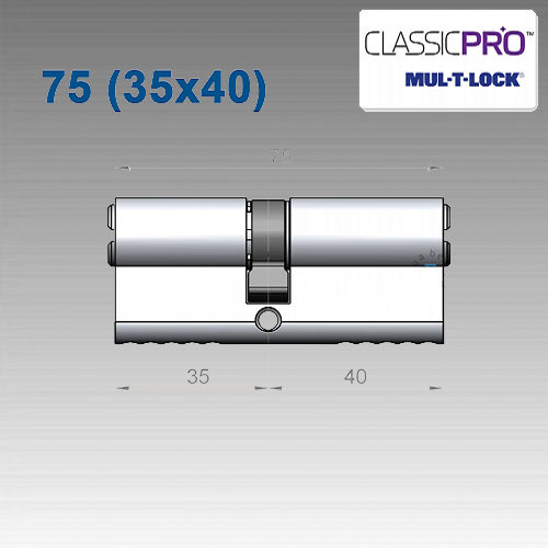 Цилиндр Mul-T-Lock Classic PRO 75 мм (35х40)