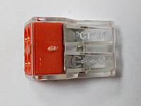 Соединительный зажим WAGO для кабеля на 4 провода проходной