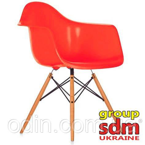 Кресло Тауэр Вуд, ножки дерево бук, пластик, цвет красный SDMPC018WR