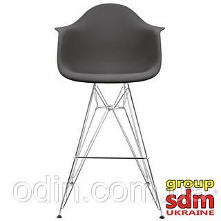 Cтул барный Тауэр Eames, хромированный, цвет черный