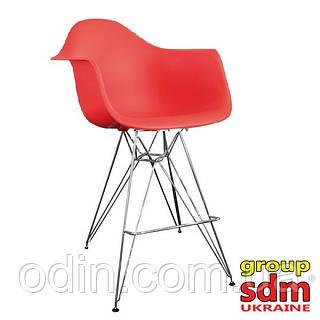 Cтул барный Тауэр Eames, пластик, цвет красный