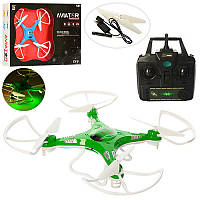 Квадрокоптер XY-9 р/управляемый, аккум Sky Drone, свет, USB зарядное, запасные лопасти